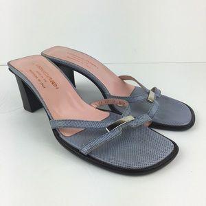 Donald J. Pliner Blue Block Heel Sandals Size 8.5